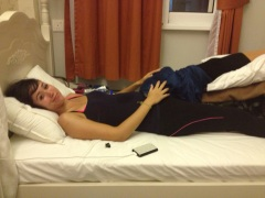 Hanging out in the hostel. Unable to walk, but still had no idea what was wrong.