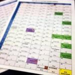 Our NYC marathon training schedule!