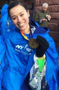 Exhausted and happy -- two years after my DVT (deep vein thrombosis), I finished my first marathon, the TCS NYC Marathon! :)