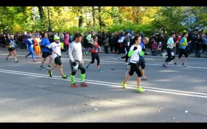 The final stretch in Central Park.