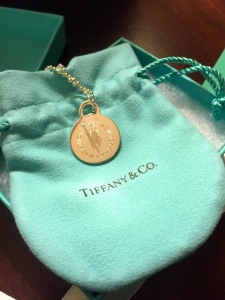 Tiffany's special edition 2014 TCS NYC Marathon necklace.